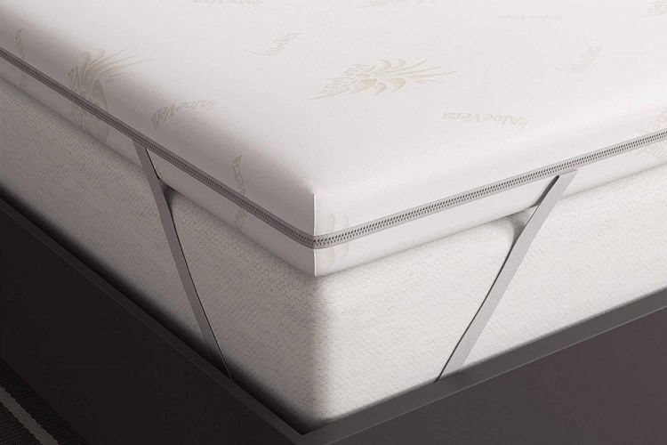 Matratzenauflage - Viscoschaum RG 50 - 6 cm Hoch - Aloe Vera Bezug