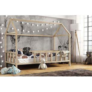 Kinderbett Kinder hausbett mit Rausfallschutz - Holz Bett