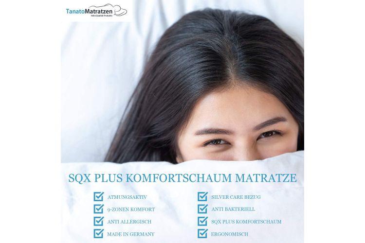Orthopädische Kaltschaummatratze mit 9-Zonen I H2 - H3 Medium - 10 Jahre Garantie - bis-120 kg I Silvercare Premium Bezug